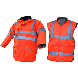 ELSENER 7 IN 1 Orange High Visibility Jacket
