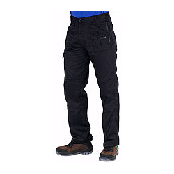 Black Action Work Trousers
