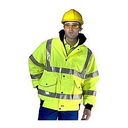 High Visibility Premium Bomber Jacket Yellow