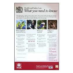 HEALTH  SAFETY LAW POSTER PVC
