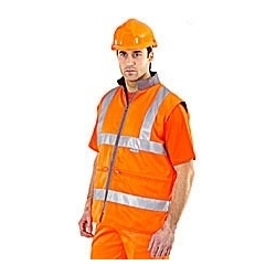 High Visibility Reversible Bodywarmer Orange