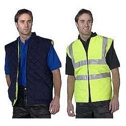 High Visibility Reversible Bodywarmer yellow-navy
