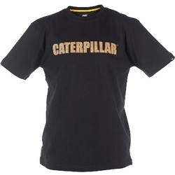 Caterpillar CAT Workwear C026 Black Canvas Textured T-Shirt