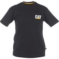 Caterpillar CAT Black Workwear Trademark T-Shirt