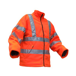 CARNOUSTIE FLEECE JACKET ORANGE