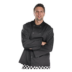 Chefs Jacket Long Sleeve Black