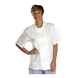 CHEFS Jacket Short Sleeve White