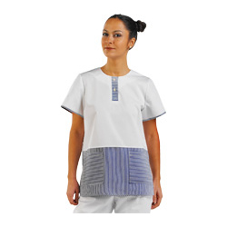 LADIES TUNIC BLUE STRIP WHITE