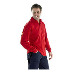 CLICK FR POLO LONG SLEEVE RED