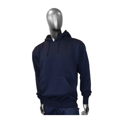 POLY COTTON HOODED SWEATSHIRT NAVY
