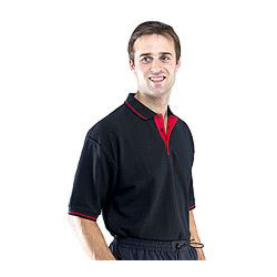 POLO SHIRT 2TONE BLACK/RED