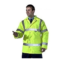 High Visibility Lined Construction Jacket Yellow