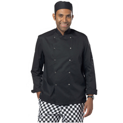 Dennys Economy Long Sleeve Chefs Jacket - Black