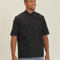 Dennys Economy Short Sleeve Chefs Jacket - Black