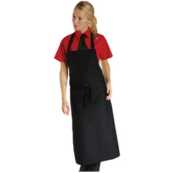 Dennys Economy Bib Apron No Pocket - Black