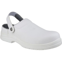 Amblers Safety White Clog