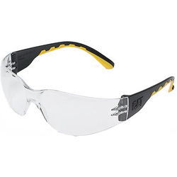 Caterpillar Track Rimless Glasses - Clear