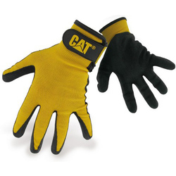 Caterpillar 17416 Nitrile Coated Nylon Shell Gloves - Black
