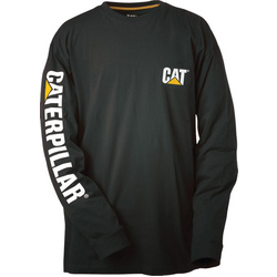 Caterpillar Trademark Banner L/S Tee - Black