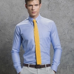 Slim Fit Workwear Long Sleeved Oxford Shirt