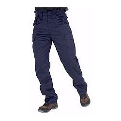 CLICK POLYCOTTON COMBAT TROUSERS NAVY