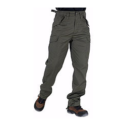 CLICK POLYCOTTON COMBAT TROUSERS OLIVE