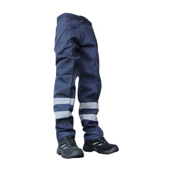 POLY COTTON NYLON PATCH TROUSERS NAVY