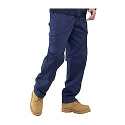 SUPER CLICK PC 9oz TROUSERS NAVY