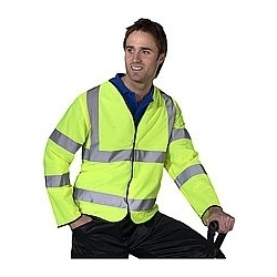 High Visibility Long Sleeved Waistcoat Yellow