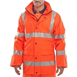 High Visibility Super Waterproof Breathable Jacket Orange