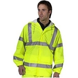 High Visibility Super Waterproof Breathable Jacket Yellow
