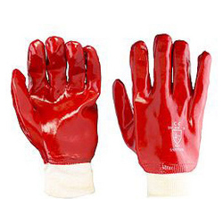 PVC F/COATED K/WRIST RED SZ 10 PAIR PACK