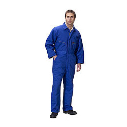 CLICK QUILTED BOILERSUIT ROYAL