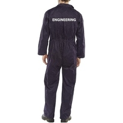 Click Navy boilersuit with South Devon College Engineering rear heat press - REGULAR LEG